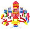 儿童益智玩具 彩色印花积木 超级儿童乐园积木 木质堆积积木