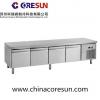 不锈钢风冷四门厨房保鲜工作台平台柜|U-GN4100TN