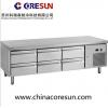 不锈钢风冷三门六抽屉保鲜冷藏厨房平台柜U-GN3160TN