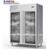 不锈钢风冷四门玻璃门保鲜冷藏平台柜工作台|GN4100TNG