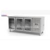 独立式不锈钢风冷厨房食品三门玻璃门速冻制冷工作台柜小型平台柜