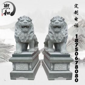 支持定做石雕狮子 看门石雕狮子 款式多样 材质优良 欢迎选购