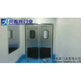 供应 北京不锈钢自由门  防撞门  食品厂  超市专用门