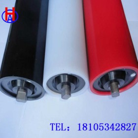 华奥供应耐磨高分子聚乙烯塑料托辊 聚乙烯托辊加工