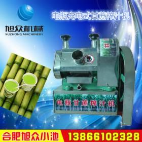 电瓶充电式甘蔗榨汁机 可流动的小型甘蔗榨汁机 厂家直销
