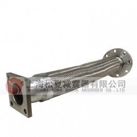 定做金属软管(一端活套法兰,一端方形法兰) 方形金属软管