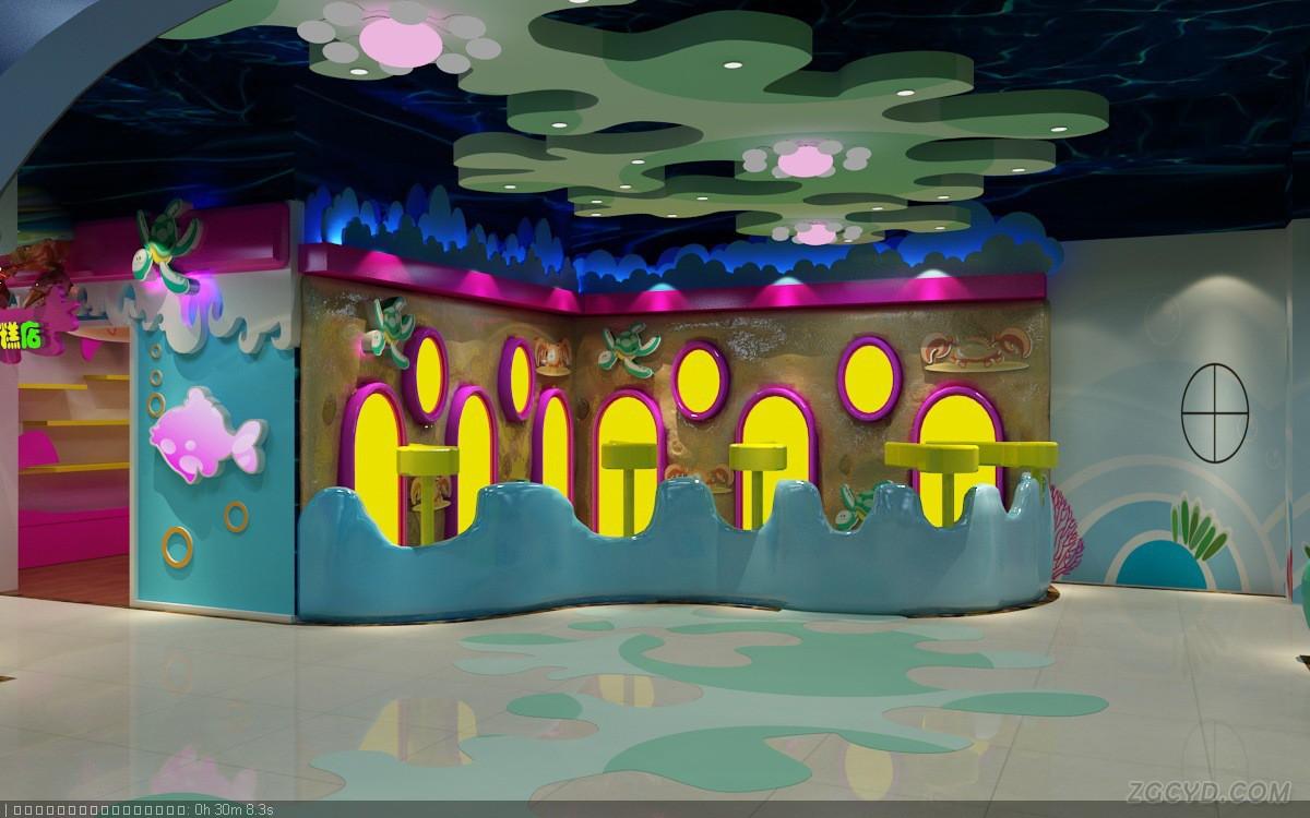 海洋风格儿童游乐场乐园装饰摆件 儿童游乐场室内设备