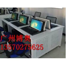 新款电脑桌 学校电教室翻转电脑桌生产厂家