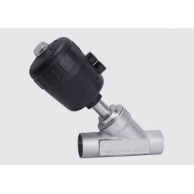 焊接式气动角座阀  卫生级气动阀门
