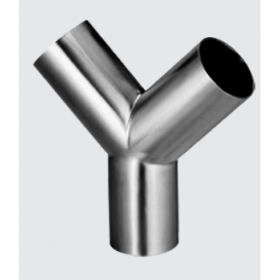 45°Y型焊接三通 卫生级管件 不锈钢管件