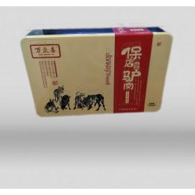 驴肉铁盒包装 中高档礼品马口铁盒批发