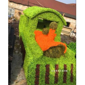 专业定制公园绿雕植物房子厂家供应