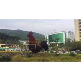 圣缘景观仿真植物绿雕公鸡厂家生产