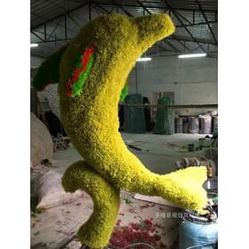 专业生产仿真植物绿雕海豚厂家直销