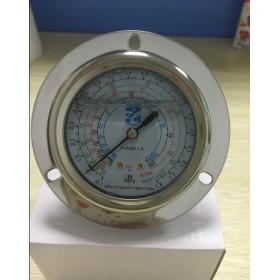 带法兰防震油压表1.8MPa 上海迹冷充油压力表
