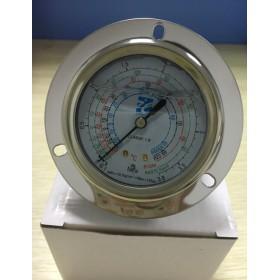 带法兰防震油压表3.8MPa 上海迹冷充油压力表