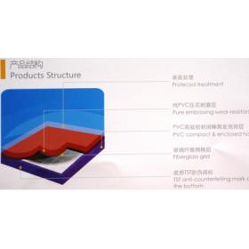 冠奥通PVC地板(橘皮纹)