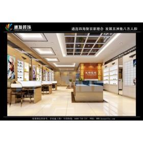 眼镜店装修设计定制眼镜展柜生产公司河南通发装饰报价