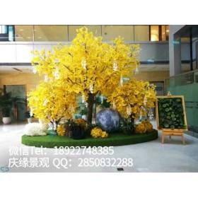 圣缘景观室内专业定制仿真银杏树厂家生产