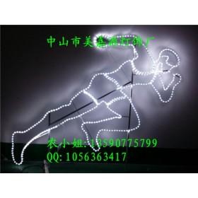 运动健儿人物造型灯 LED过街灯 农庄夜景灯光秀