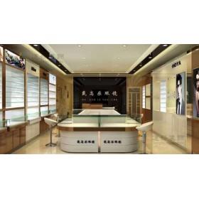 眼镜店装修大概花多少钱开放式快时尚烤漆眼镜展柜定制