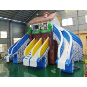 儿童充气水上滑梯设备厂家 大型充气水上乐园设备价格