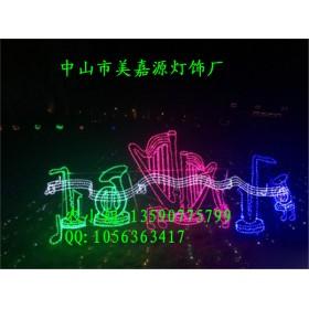 LED音符造型灯 哆啦咪LED路灯杆造型灯 春节过街灯亮化