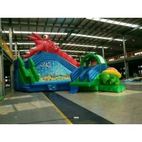 游乐园儿童戏水乐园 龙虾戏水儿童充气水滑梯