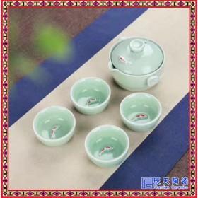 江湖快客杯创意个人茶杯便携式旅行功夫茶具陶瓷过滤