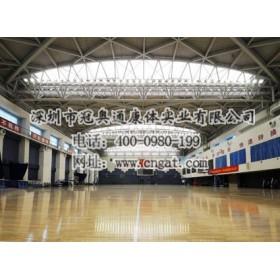体育馆地板的地基组成机构