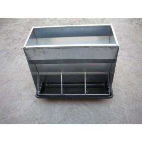 不锈钢双面食槽保育栏食槽料槽养猪设备猪场器械厂家直销