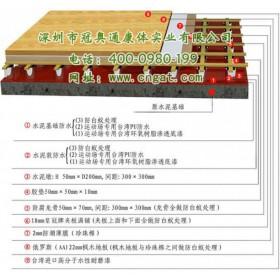天然枫木材料运动地板——深圳冠奥通运动木地板