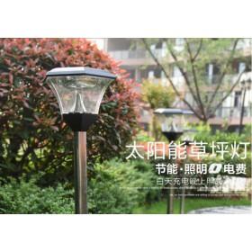 草坪灯太阳能草地灯方形欧式复古庭院灯花园灯外户外景观灯公园灯