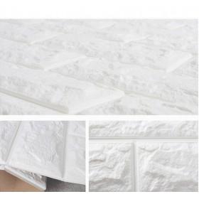 自粘墙纸3D立体砖纹墙贴 背景墙壁纸防水装饰软包贴纸