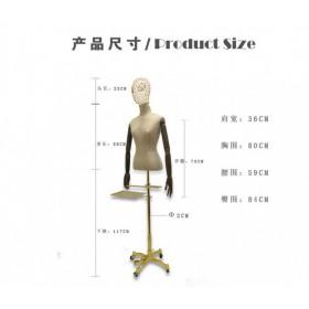 厂家直销服装店模特 女装人台 玻璃钢包布模特 半身人台