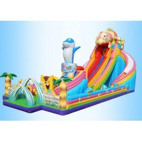 儿童充气城堡室外大型蹦蹦床乐园大滑梯玩具屋游乐场设备