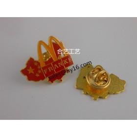 中国地图徽章、麦当劳徽章、优质徽章、精品徽章定制
