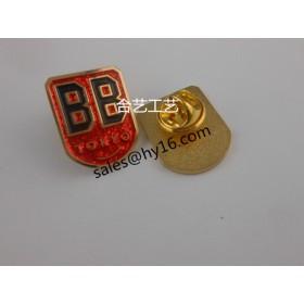 仿珐琅胸牌订做,高档金属徽章制作-企业商标胸标定制