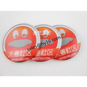 公司活动胸牌、促销礼品、马口铁印刷徽章、厂家定制
