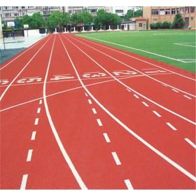 厂家供应学校高弹性透气型塑胶跑道施工环保耐磨塑胶面层材料