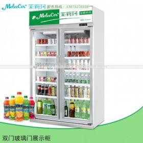冰柜价格豪华铝合金双门冷藏展示柜冷柜品牌哪个好