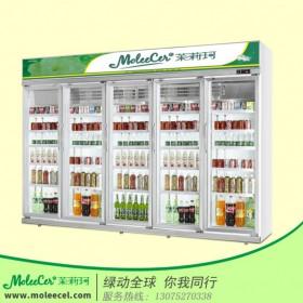 冰柜品牌哪个好豪华铝合金五门冷藏展示柜饮料柜价格厂家直销