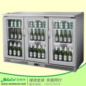 酒吧冷柜品牌哪个好不锈钢(直冷/风冷)三门桌上型展示柜