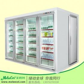 冰柜品牌哪个好?四门后补式拼装分体机陈列柜超市饮料柜厂家