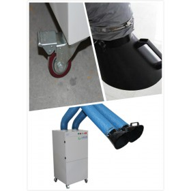 常规尺寸的双工位单机除尘器,滤筒式双臂焊烟机