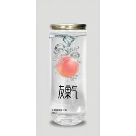 中山24瓶装加气水蜜桃果味饮料280ml超市代理