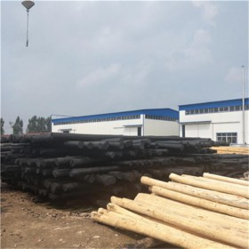 厂家直供防腐油木杆 油炸杆 油木电杆 价格便宜