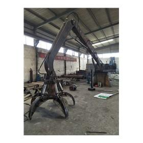 厂家直销两瓣抓 梅花抓 液压360度旋转式抓钢机现货供应