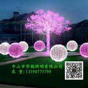 房产LED圆球灯装饰亮化 小区圆球造型灯 市政过街灯美化