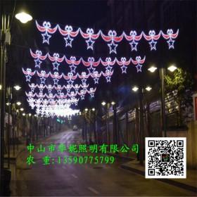 牛角款LED跨街灯 山东菏泽LED街棚灯 LED路灯杆造型灯